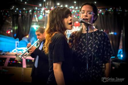 """Danni James and Stefanie Pepping, singing """"Tonight You Belong To Me"""""""