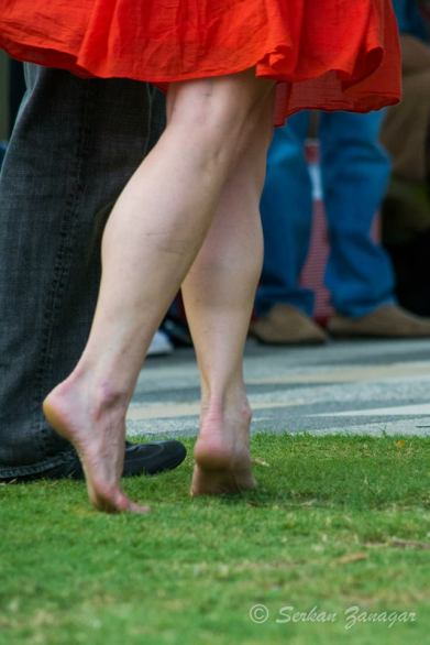 Dancing on the lawn at Klyde Warren