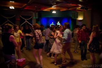 Swing dancers at Sons of Hermann Hall
